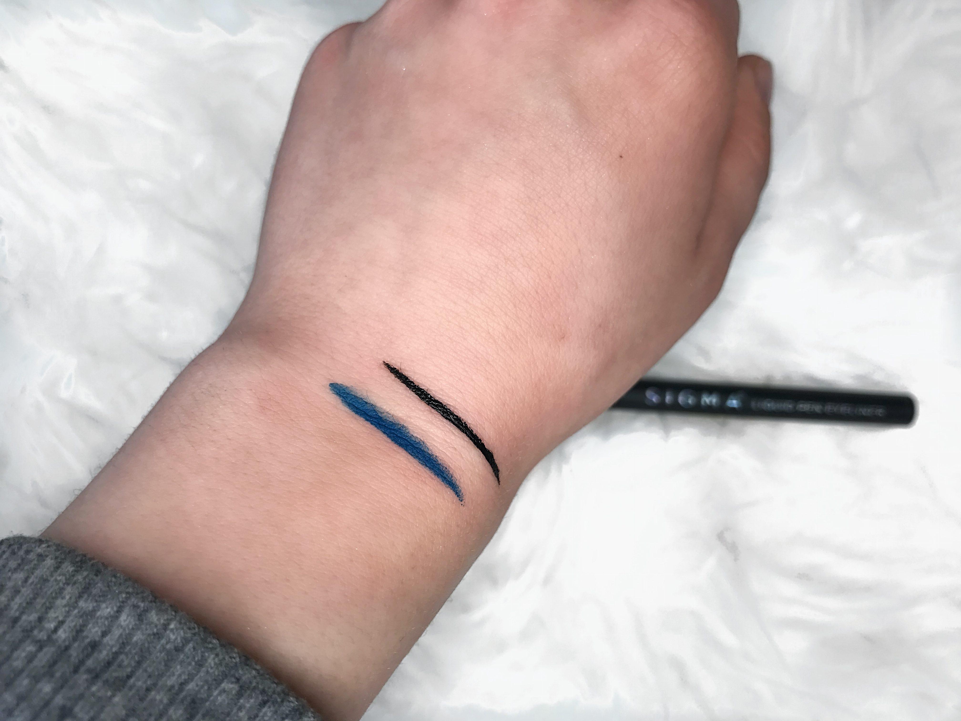 sigma beauty pen eyeliner wicked swatch
